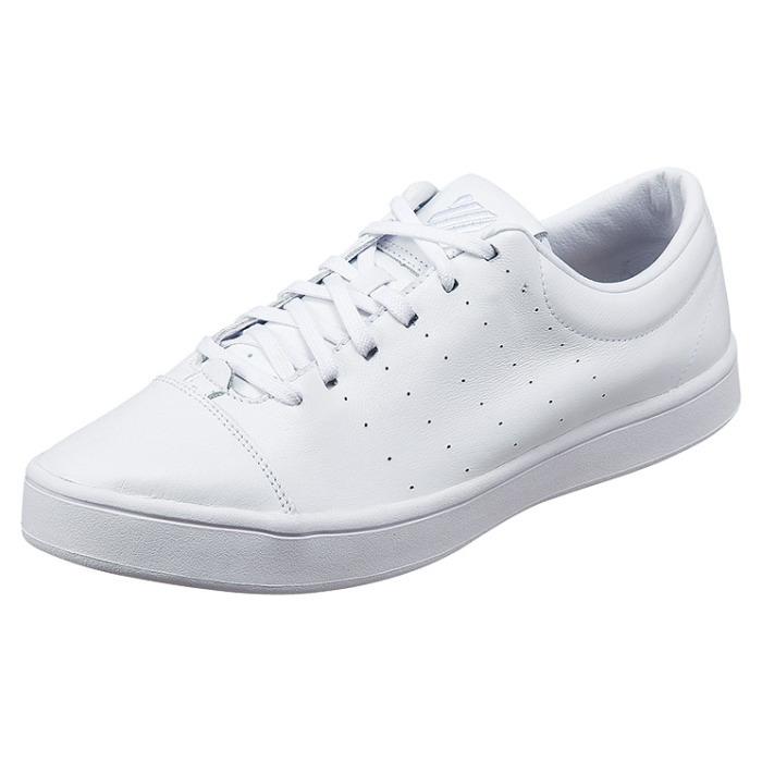 新的瑞士运动鞋男装 K-瑞士沃什伯恩 [/ 白色] 03521101 WW 低胸白色皮革运动鞋鞋男装 KSWISS K-瑞士男式运动鞋 2015年落