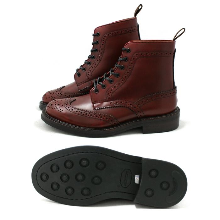 Locking Shoes Footmonkey原创品牌 翼尖鞋 翼尖靴 型号: 916 酒红色 真皮 皮革 商务鞋 日本产 原创 男式 男士 休闲 系带款 男鞋 商务 japan WINGTIP 乡村靴 邮购
