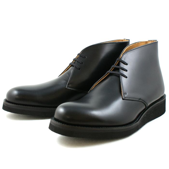 Locking Shoes ロッキングシューズ by FootMonkey フットモンキー POSTMAN BOOT 1011 ポストマンブーツ チャッカブーツ メンズ ハイカット 日本製 MADE IN JAPAN 送料無料 【コンビニ受取対応】