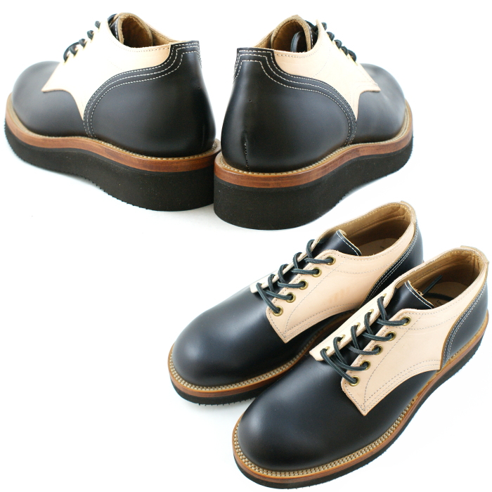 牛津鞋 By Footmonkey OXFORD SHOES 牛津鞋风格:: 1015 黑色/自然 圆头  Vibram 男鞋 通勤 靴 Boot 麦凯式做法 鞋底可换 正品 Made in Japan 日本产 网上销售【Recommend 】