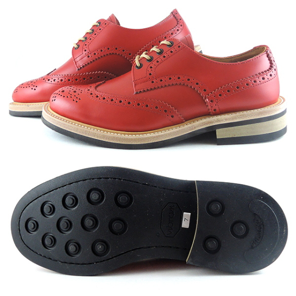 Locking Shoes FootMonkey Original Brand FootMonkey WINGTIP SHOES 918 Red Men Men's Shoes Boots Mail-order