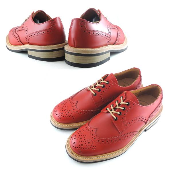 Locking Shoes FootMonkey原创品牌FootMonkey(フットモンキ ー)翼尖鞋 WINGTIP SHOES 918 红色男式 男鞋 靴子 邮购