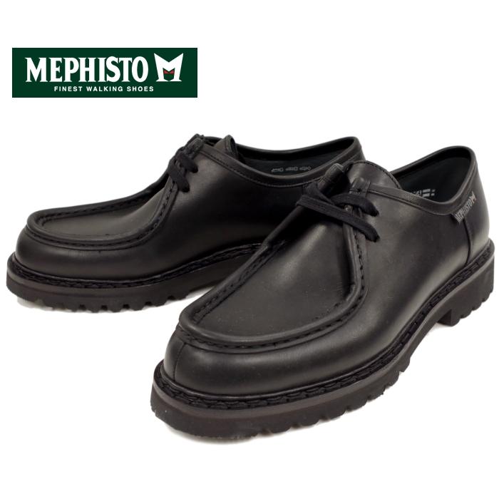 MEPHISTO メフィスト PEPPO 384 TIROLEAN SHOES チロリアンシューズ [BLACK] ブーツ メンズ レザー モカシン モックトゥ フランス製 送料無料 【コンビニ受取対応】