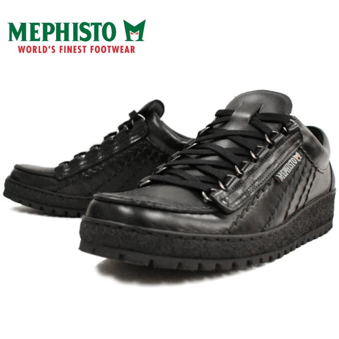 墨菲斯托-墨菲斯托彩虹彩虹低胸运动鞋男装 [黑色] 步行鞋、 皮革、 葡萄牙制造