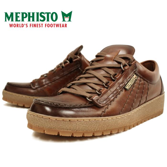 男人的低胸运动鞋、 墨菲斯托墨菲斯托彩虹 4778 彩虹 [板栗] 步行鞋、 皮革、 葡萄牙制造