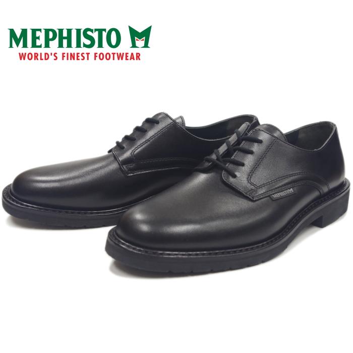 MEPHISTO MARLON 9000 BLACK メフィスト マローン プレーントゥシューズ ビジネスシューズ メンズ 本革 プレーントゥ ウォーキング ポルトガル製 送料無料 【コンビニ受取対応】