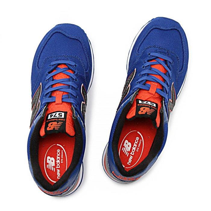 新平衡运动鞋 574 男人真正的新平衡 ML574 SIA [蓝/橙色]