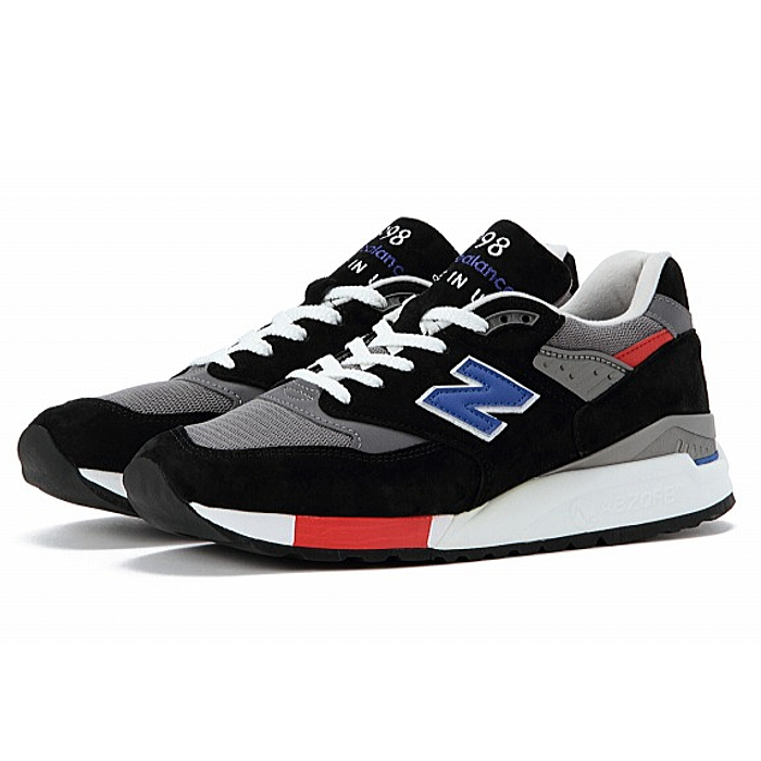 buy online b264e 1bfd6 ●● New Balance 998 M998 new balance sneakers Made in USA NEWBALANCE M998 HL  black / blue USA model newbalance sneakers men's sneaker