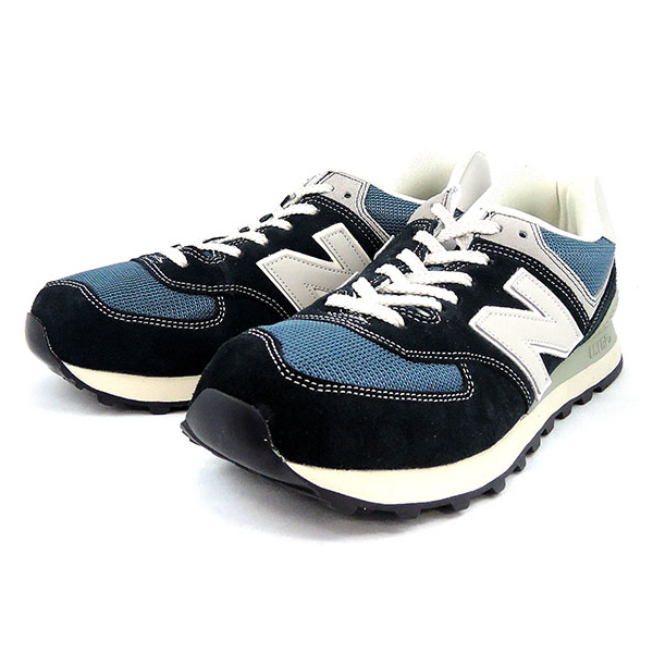 super popular 01629 d7480 ●● New Balance 574 sneakers new balance ML574 DNA [navy-blue] men gap Dis  shoes men's ladies sneaker newbalance