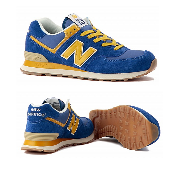 new balance ml574 sneaker blue yellow