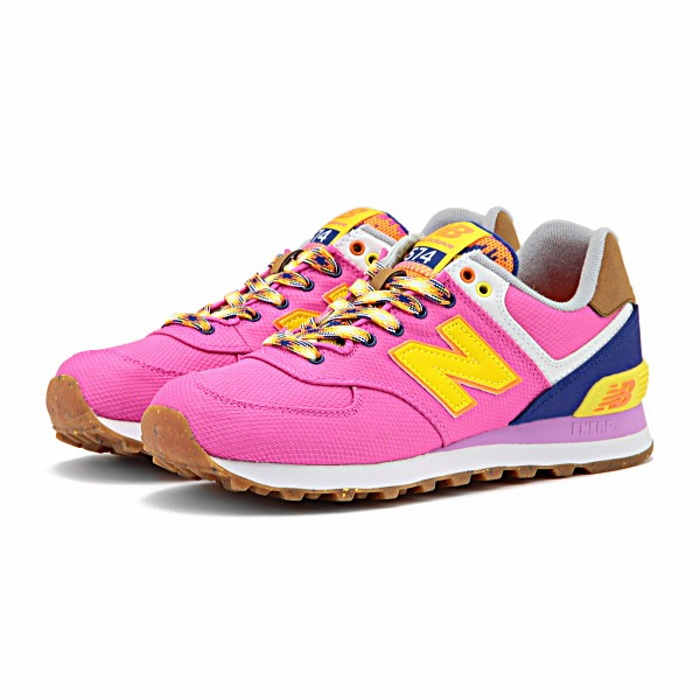 official photos 3fb9f 56e81 ●● New Balance 574 regular article new balance WL574 EXB [purple / yellow]  Lady's sneakers