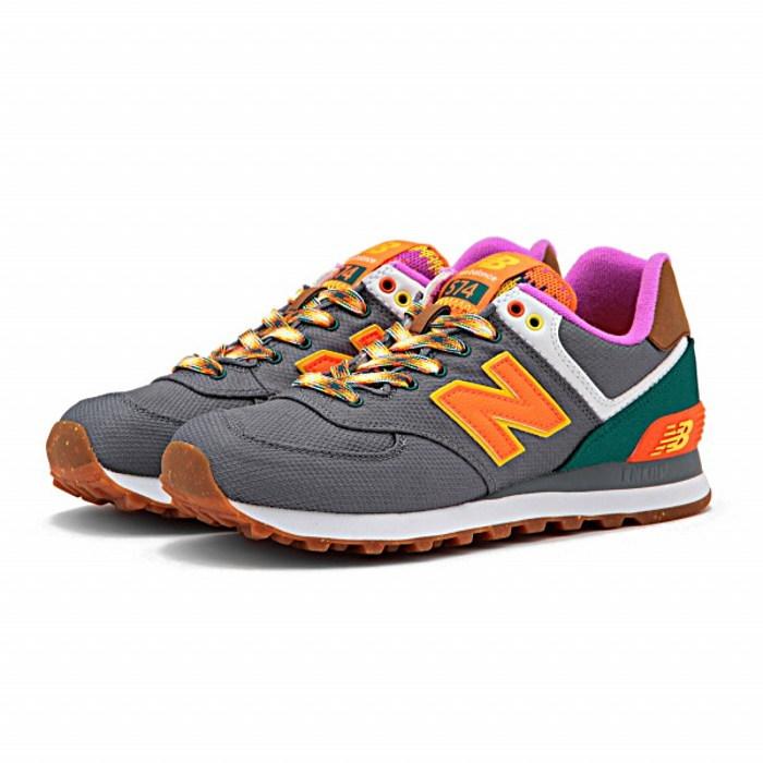 new balance 574 orange grey