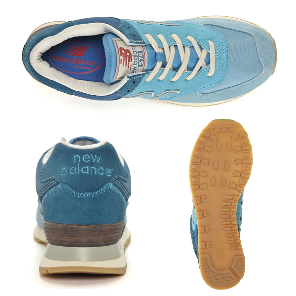 check out 97b10 ab01b ... New Balance 574 suede sneakers new balance NEW BALANCE ML574 RSK (sky  blue