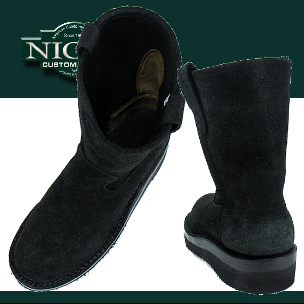 刻痕,靴子的叛徒 Style::Style: 55 E 8' ' 黑色麂皮绒智者:: 皮革工作靴男士靴子男牛津鞋在美国前在美国商店