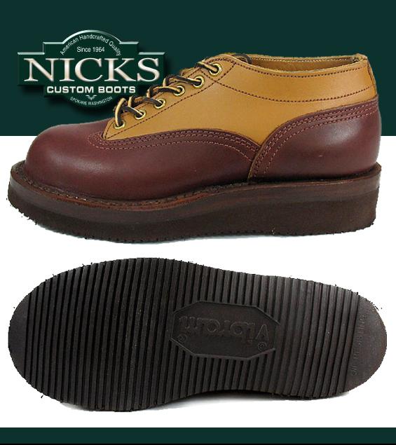 NICKS BOOTSニックスブーツOxford オックスフォード Style641TT タン チョコレ8nwkOPN0X