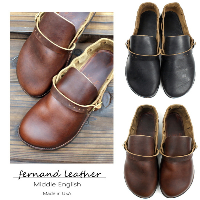 Footmonkey Fernando Leather Fernand Leather Middle English Ladies