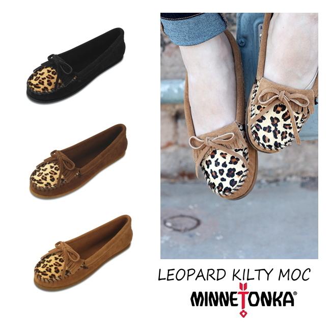 Minnetonka moccasins genuine MINNETONKA LEOPARD KILTY MOC Leopard suede  mock women's moccasin shoes suede Leopard pattern Leopard women's shoes  ladies ...