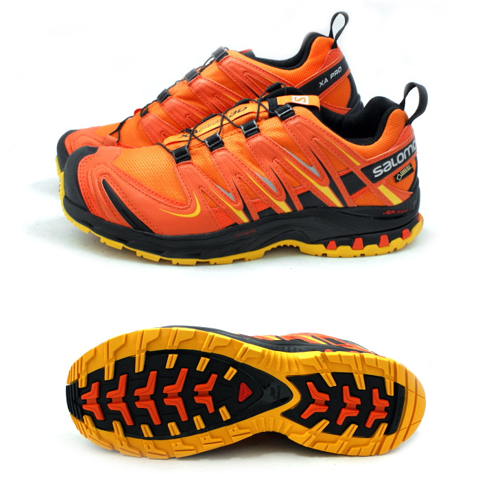 ●● men's for the Salomon trail running shoes SALOMON XA PRO 3D GTX 370812 [CLEMENTINTOMOTO REDYELLOW GOLD] XA pro 3D Gore Tex men man ★