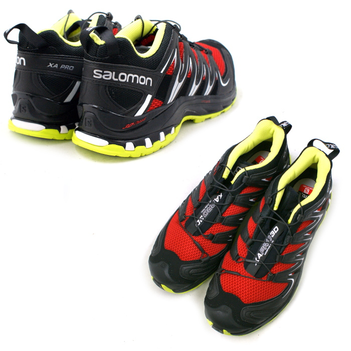 Salomon 小径跑步鞋所罗门 XA PRO 3D 373204 [快速/黑/壁虎绿色] XA 临 3D 男士男装男士 ★