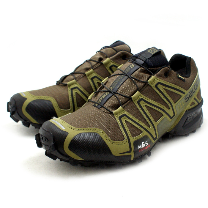 ●● men's for the Salomon trail running shoes SALOMON SPEEDCROSS 3 GTX 373323 [DARK KHAKIBLACKGUANA GREEN] speed cross Gore Tex men man ★