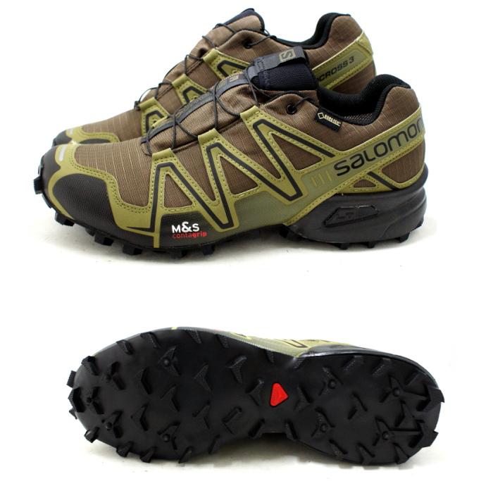 chaussures de séparation dde02 b245d Salomon trail running shoes SALOMON SPEEDCROSS 3 GTX 373323 [DARK  KHAKI/BLACK/GUANA GREEN] speed cross Gore-Tex men's men's men's ★