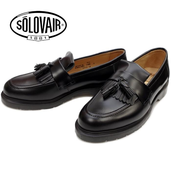 3776fac10b7 2018 spring and summer new work made in SOLOVAIR ソロヴェアー 822 TASSEL LOAFER black  tassel loafer shoes slip-ons leather men England