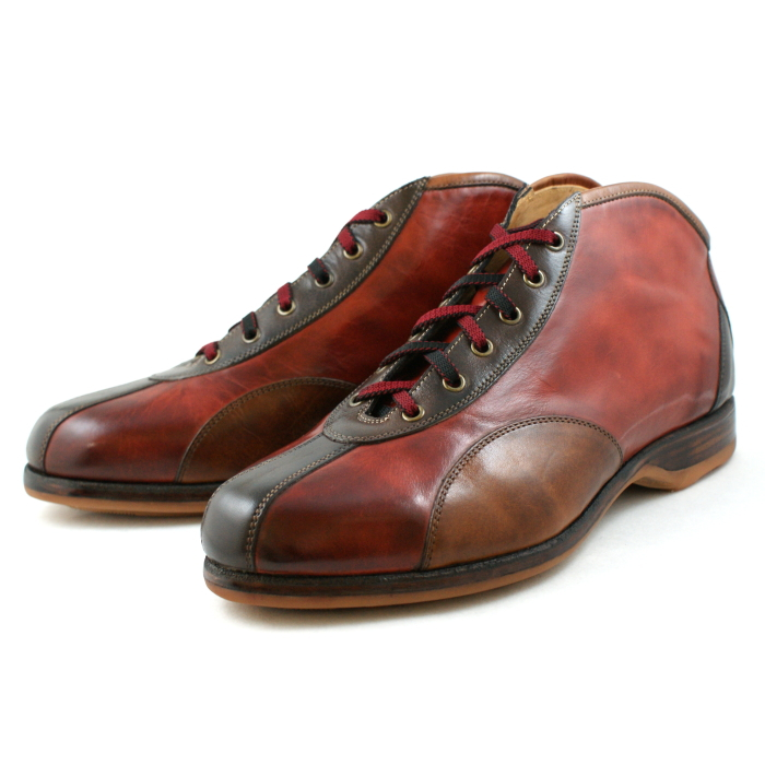 S.Y.C エスワイシー 日本製 ブーツ 本革 メンズ レースアップシューズ メンズシューズ 1401 〔RD/BR〕 SYC men's 送料無料 本革 日本製 靴【コンビニ受取対応】