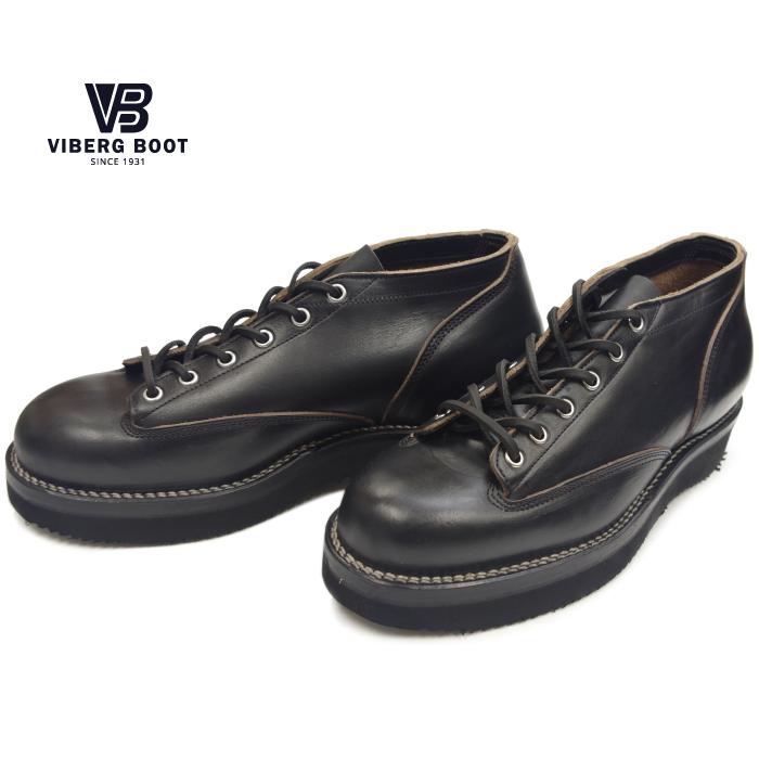 【楽天市場】VIBERG ヴァイバーグ LACE TO TOE OXFORD ブラッククロムエクセル ワークブーツ ...