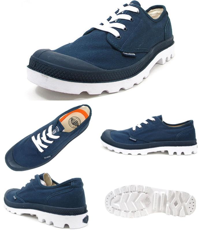 钯鞋运动鞋钯布兰科牛 72885 空白牛津男装女装帆布低胸男式运动鞋店