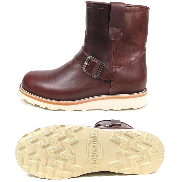 """Pistoleros engineer PISTOLERO Pecos Engineer Boots 7 """"PECOS ENGINEER BOOT 103-04-cordovan made in Mexico men's work boots Men's BOOTS mail order"""