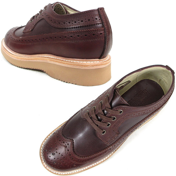 Pistoleros boots Oxford wing tip shoes made in Mexico PISTOLERO OXFORD WING TIP 114-04 cordovan mens Men's BOOTS