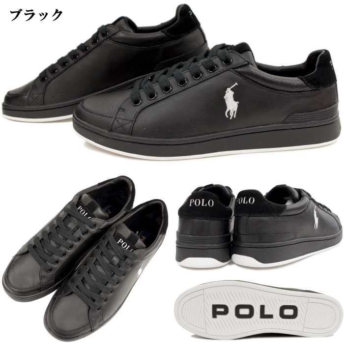 POLO RALPH LAUREN [Polo Ralph Lauren] low-cut leather sneakers R606 TALBERT  black wise: d Men\u0027s mens ????? pony PONY one point mark Ralph RRL genuine  ...