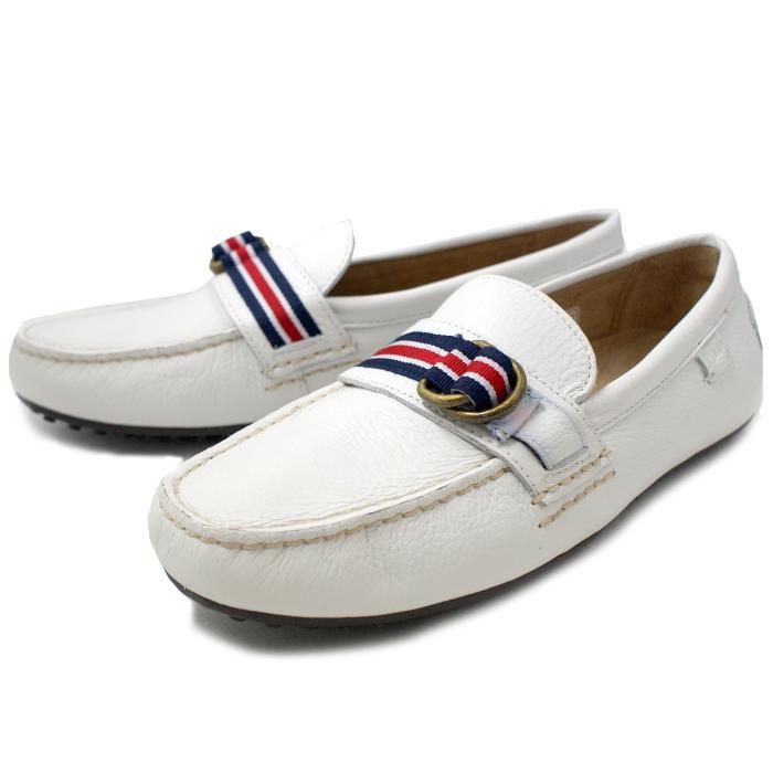 13fe195020 ●● Polo Ralph Lauren men shoes driving shoes men genuine leather POLO RALPH  LAUREN polo Ralph Lauren R762 [white] slip-ons men's shoes 2015SS