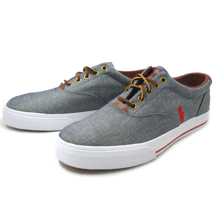 Polo Ralph Lauren sneakers mens POLO RALPH LAUREN Polo Ralph Lauren VAUGHN-NE  R930 [Gray] men's shoes sneaker 2015 spring summer new