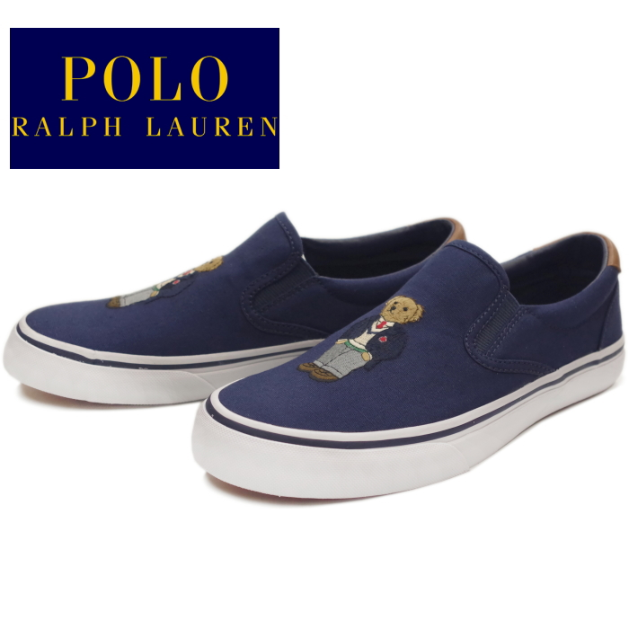 bbac0dee POLO RALPH LAUREN polo Ralph Lauren sneakers slip-ons THOMPSON III RC24  low-frequency cut men's regular article canvas 2019 spring and summer new  work