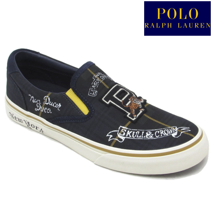 98b12cb0 POLO RALPH LAUREN polo Ralph Lauren sneakers slip-ons THOMPSON III RC28  low-frequency cut men's regular article canvas 2019 spring and summer new  work