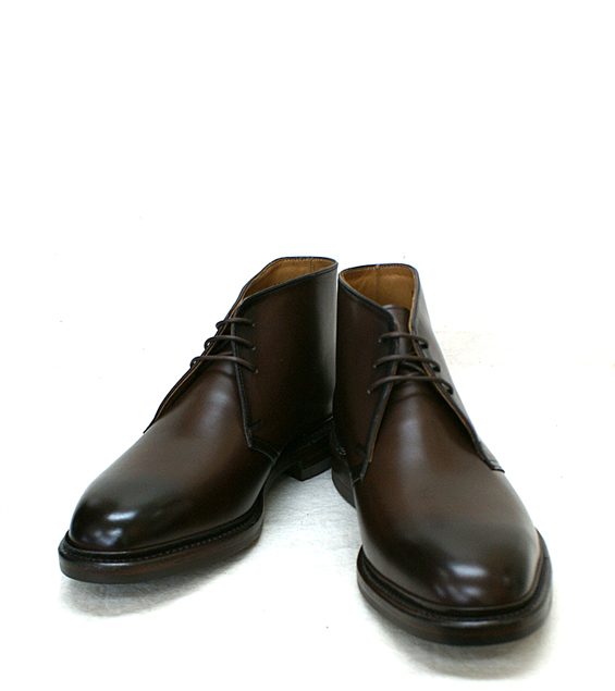 moderate price forefront of the times 2019 clearance sale ●● POLO RALPH LAUREN [polo Ralph Lauren] business shoes chukka boots dark  brown die knight sole R201CF Wise: EE equivalency genuine leather leather  ...