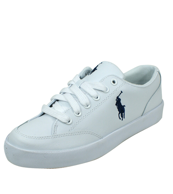 POLO RALPH LAUREN [Polo Ralph Lauren] low-cut leather sneakers R384 LATTON  White ...