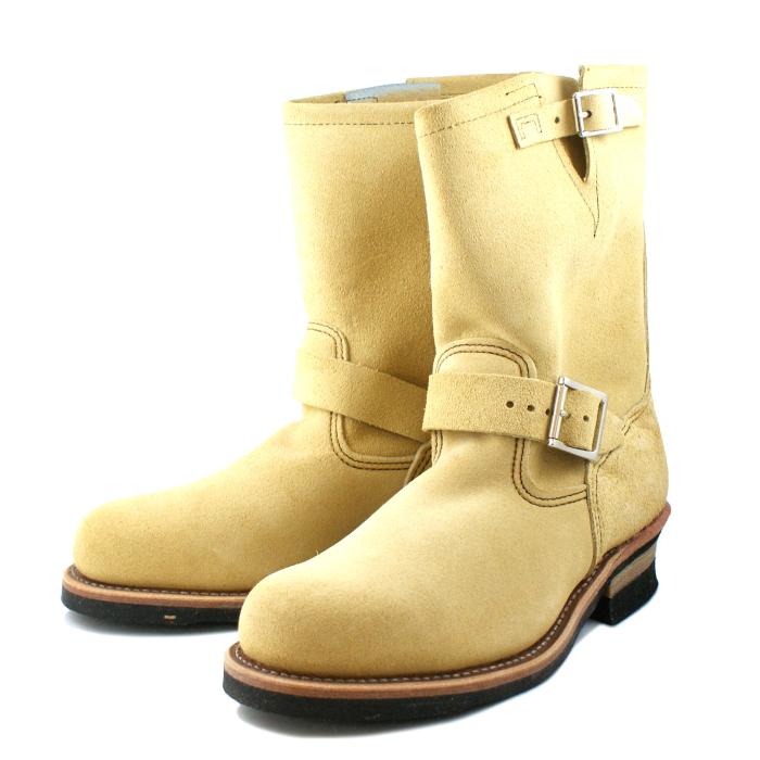 REDWING [レッドウィング] エンジニアブーツ RW8268 サンド ベージュ ラフアウト Width:D送料無料 レッドウイング RED WING メンズ レディース ワーク ブーツ Boots 正規品 RW-8268 スエード【交換片道送料無料】【純正ケア用品付】【コンビニ受取対応】