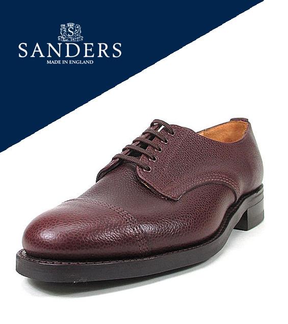 桑德斯 [桑德斯] 德比鞋军队粮食德比鞋 8803 (布朗)-联合王国皮革皮鞋繁体穿鞋衣衫褴褛的联合王国鞋命令排序商店