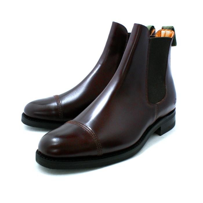 桑德斯鞋靴子桑德斯 9921 帽脚趾切尔西靴子 [艮] 男装切尔西靴子 Couleur 直尖男装军事联合王国男鞋鞋店男式靴子 _ _