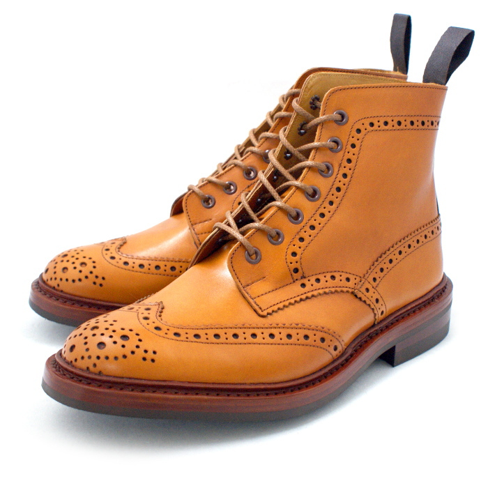 f697d55fb4008 Regular article トリッカーズカントリーブーツ Tricker's wing tip boots U.K. shoes leather  leather shoes country boots ...