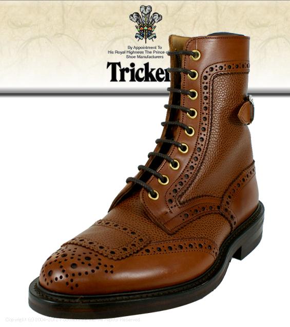b7da56bf3dfe6 Regular article Tricker's [トリッカーズ] wing tip boots M7151 (the brown Scotch  ...