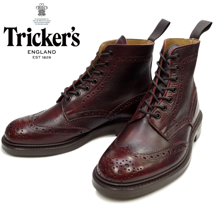 862842ff89955 Regular article トリッカーズ Tricker's STOW Suto 5634 SIGN KUDU wing tip boots  country boots die knight sole fitting5 men higher frequency elimination  kudu ...