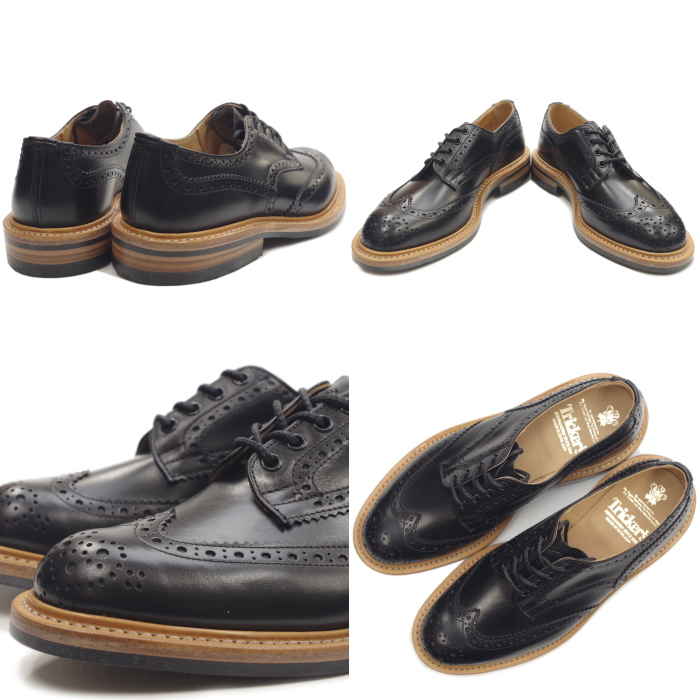 Regular article Tricker's BOURTON トリッカーズバートン M7292 black wing tip shoes  country shoes die knight sole business shoes men genuine
