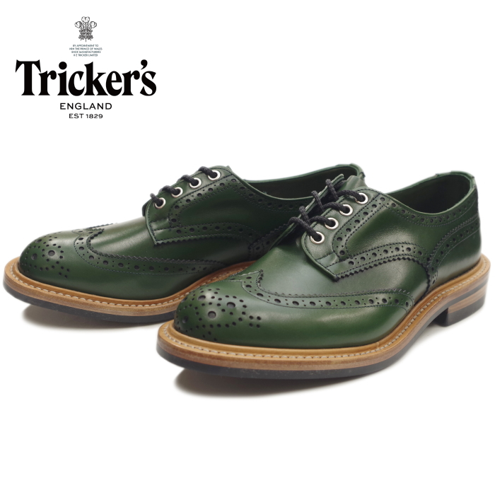 Regular article Tricker's BOURTON トリッカーズバートン M7292 green / greenlining wing  tip shoes country shoes die knight sole business shoes