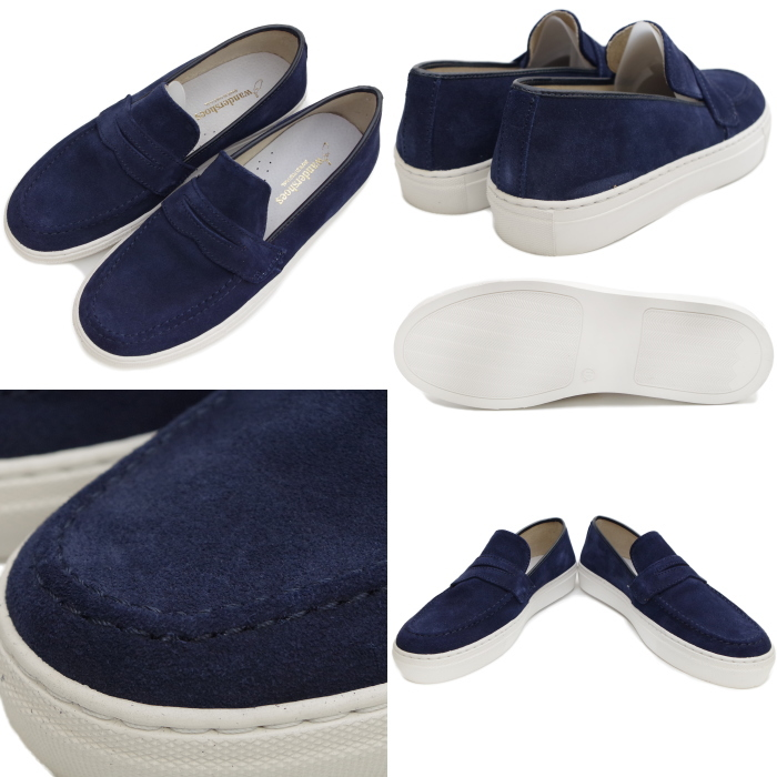 MADE IN PORTUGAL made in WANDER SHOES Wonder shoes loafer 6775 men's low frequency cut LOAFER suede slip ons moccasins Portugal