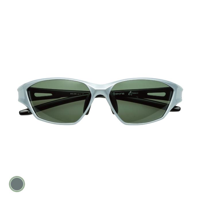 SKINS(スキンズ) スポーツ 偏光 サングラス PEBAX グリーン メンズ/レディース 巾着ケース付 フリーサイズ SKS-208 C-3【メール便配送不可】