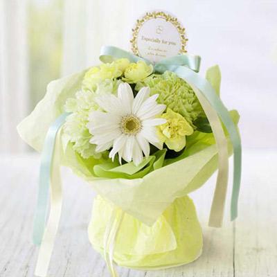 電報 結婚式 誕生日 お祝い電報 祝電 送料無料 ブーケ 【Paris beauty ホワイト】