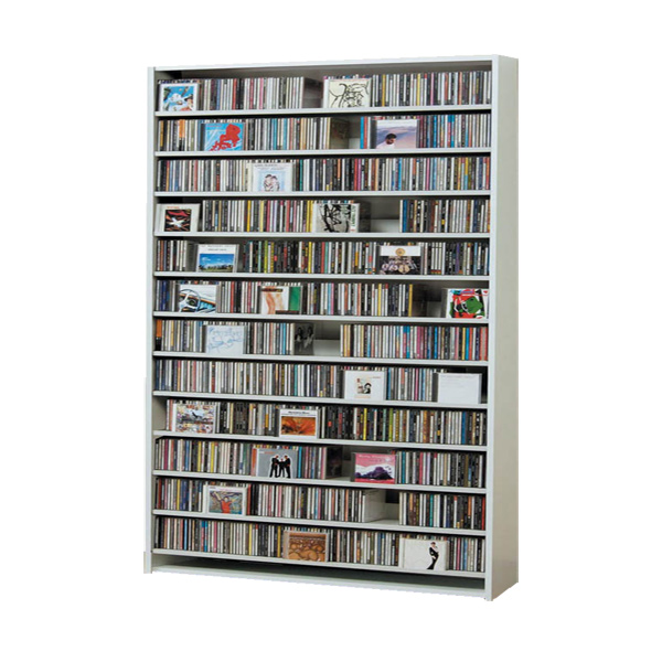 CDラック CD STOCKER ショップ気分でCDを大量収納! CS1284 1284枚 DVD560枚【送料無料】